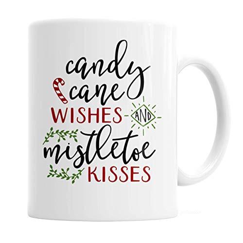 Christmas Candy Cane Mug - Christmas Coffee Mug 11 oz. Candy Cane