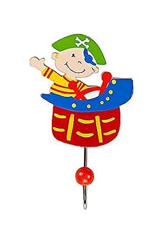 Gancho individual para la ropa con decoración de pirata para la habitación de los niños: Amazon.es: Juguetes y juegos