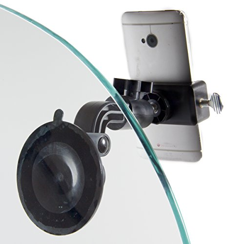 Livestream Gear - Glass Suction Mount for Phone, Perfect for Live Stream, - Bathroom Mirrors Mount