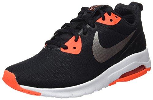 Nike Womens Air Max Motion Lw Scarpa Da Corsa Nero / Mtlc In Peltro