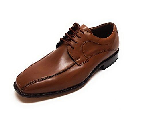 Schnürhalbschuhe 5 H Ago Cognac Riva 4474 Herren Manz Schuhe Veg Calf cO7xyT