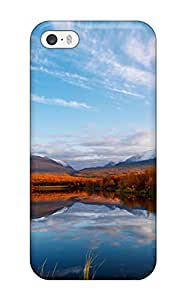 6663861K37430533 New Design Shatterproof Case For Iphone 5/5s (clouds Autumn Reflection)