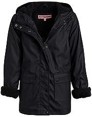 URBAN REPUBLIC Girls Hooded Rain Jacket with Fur Lining