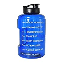 QuiFit Sports Gallon Water Bottle Large Capacity Water Jug Portable Handle BPA Free Drinking Huge Tank Container for Outdoor Gym Travel 128/83Ounce