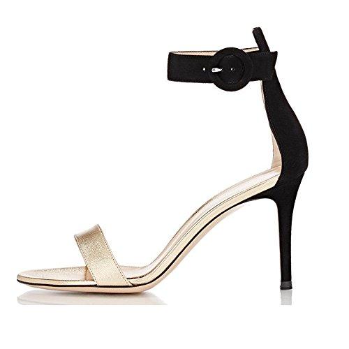 elashe - Correa para el tobillo Mujer Gold-Schwarz