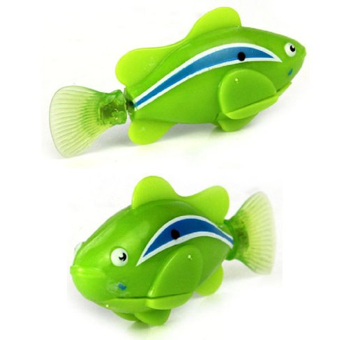 Towallmark 1PC Newest Green Lovely Robo Fish Electric Toy Pet Fish With Aquatic Gift for Kids