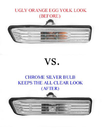 2008-2011 Mercedes Benz W204 SMOKE Bumper Side Marker Light + Chrome Bulb - C300 C350 Sport