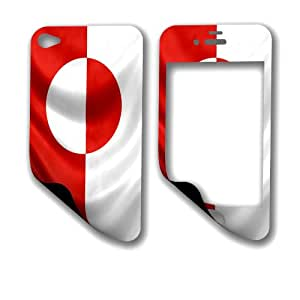 Skin (decal) for iPhone 5 / 5S - Flag of Greenland - Greenlandic