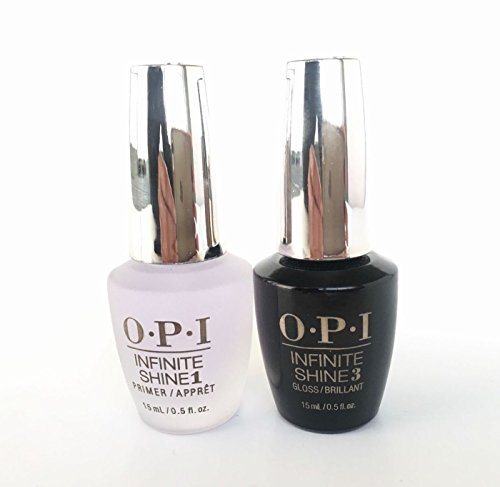 Beauty Popular Perfect Duo Primer Base and Gloss Top Coat Gel Nail Polish Lacquer Infinite Shine Collection Ultra Shades Nails Salon Verity Gelish Volume 0.5oz or 15mL for 2ct per (Ultra Polymer Sealant)