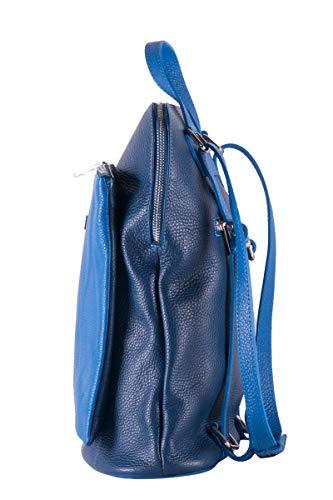 100 Bleu B BEATRICE Femme en cuir Sacà col BORDERLINE Italy Made dos in dvdARF
