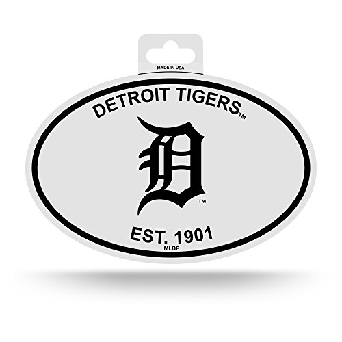 Rico Detroit Tigers Oval Decal Sticker Black and White Car Window Established 1901