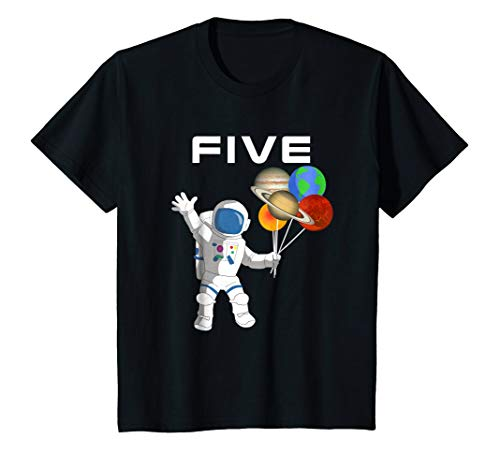 (Kids 5 Year Old Outer Space Birthday Party 5th Birthday Shirt)