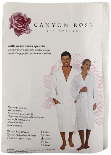 Canyon Rose Unisex Waffle Weave Spa Robe, Sand, S