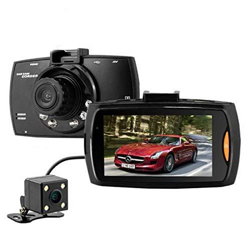 (VIGORWORK Car DVR Dual Lens G30 FHD1080P 2.7 LCD Night Vision G-Sensor Dash Cam Car DVR Vehicle Recorder Camera with Rear Camera)
