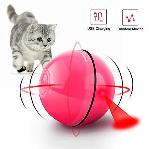 CENXINY Cat Balls Smart Interactive Cat Ball Toy 360 Degree Self Rotating Light Up Cat Ball USB Charging