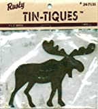DCC 1-Pack Rusty Tin-Tiques Tin Cut-Outs, Moose, 4-1/4-Inch