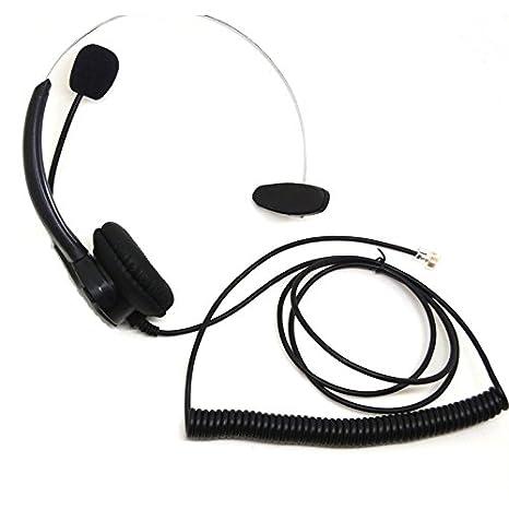 Amazon Com Heyrtz Telephone Headset Rj9 Plug Single Sided For