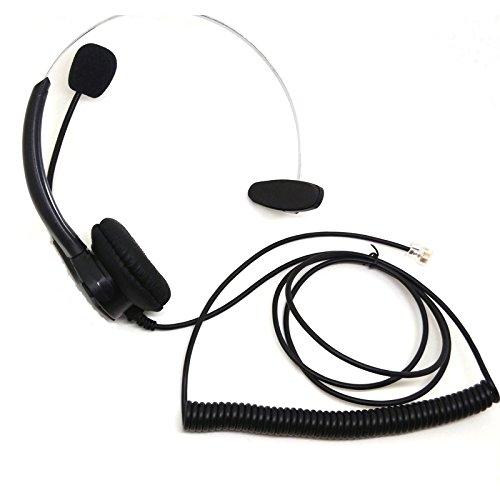 CQtransceiver Office Corded Telephone Headset Boom Mic for Plantronics Phones Landline T20 T50 T100