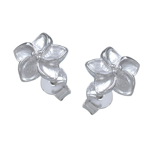VINANI Ohrstecker Seerose matt/glänzend Sterling Silber 925 Ohrringe OSR