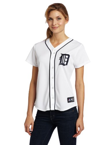 MLB Detroit Tigers Home Replica Baseball Women's Jersey, White, X-Large