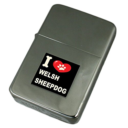 (I Love My Dog Engraved Lighter Welsh Sheep)