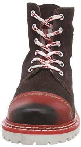 Bergheimer Trachtenschuhe Aflenz Damen Chukka Boots Braun (Brown/Red)