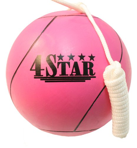 New PINK Color Tether Balls for Play Grounds & Picnics Included With Ropes LastWorld