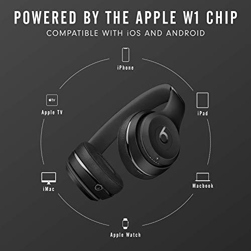 Beats Solo3 Wireless On-Ear Headphones – Apple W1 Headphone Chip, Class 1 Bluetooth, 40 Hours of Listening Time, Built…