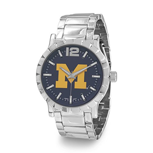 2017 NCAA-Michigan Wolverines Men's Silver & blue College Football/Basketball Watch W9317-MICh
