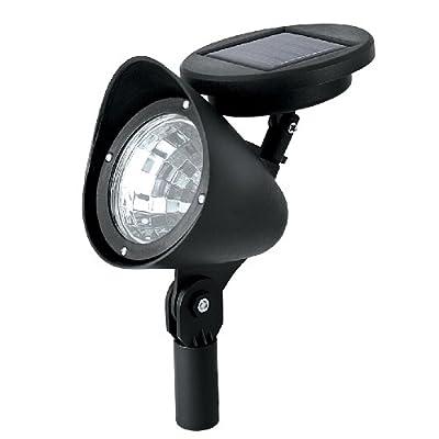 Sterno Home GL23836BK2 Paradise Solar LED 3 lumens Plastic Spot Light, 2-Pack, 2 Piece - Landscape Spotlights - .com
