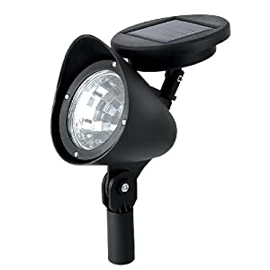 Paradise by Sterno Home Solar LED 3 lumens plastic Spot Light, 2-Pack