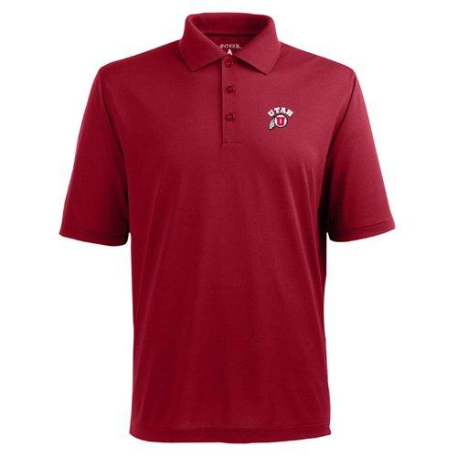 - NCAA Men's Utah Runnin Utes Pique Xtra Lite Desert Dry Polo (Dark Red, Small)