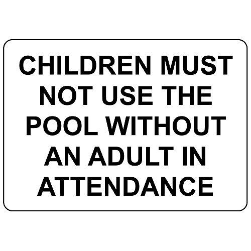 (Children Must Not Use Pool Without Adult in Attendance Vinyl Sticker Decal 8