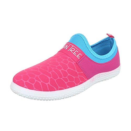 de casa Design Mujer Zapatillas Ital Rosa BxEp7S