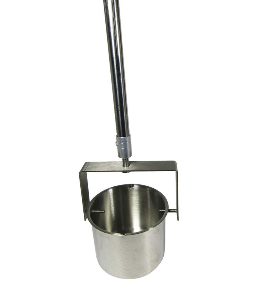 Stainless Steel Telescopic Swivel Dipper Telescope Water Sampling Pole Sampler Rod 1000ml Ladle (1.75-7m)