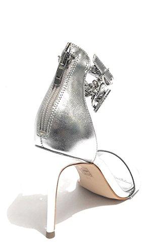 MOD col Ecopelle DS18GU70 Donna KONCETA Silver Scarpe 100 Tacco Guess Sandalo TC nY1RxwUq