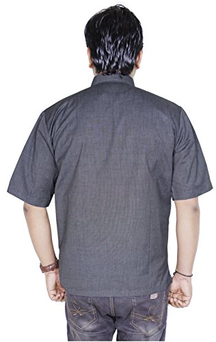 Mens t-shirt tunique indienne - manches courtes pur coton kurta de yoga plaine