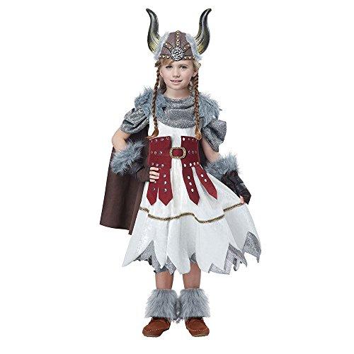 California Costumes Valorous Viking Girl Costume, Multi, (Viking Costumes For Children)