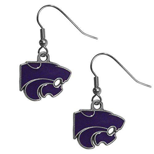 - Siskiyou NCAA Kansas State Wildcats Dangle Earrings, Metal