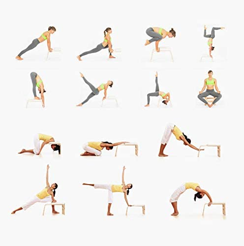 MATTE Yoga Postura sobre la Cabeza Auxiliar Banco Sentarse y levantarse,aliviar la Fatiga y Build Up Body Fitness,C/átedra Pr/áctica Yoga para la Familia de Gimnasia,Equipamiento la Vivienda la Aptitud