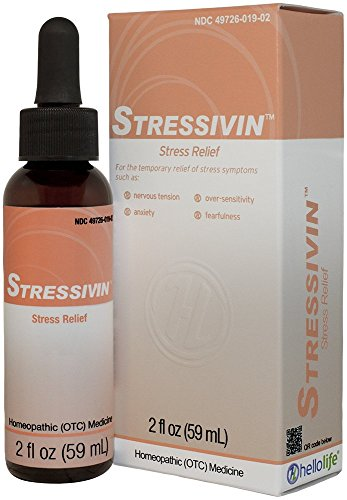 HelloLife Stressivin - Natural Relief of Stress Symptoms such as Nervous Tension, Stress Headaches, and Over-Sensitivity