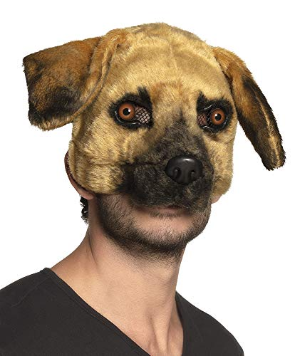 Boland Dog Mask Adult Plush Half Face Mask Doggy Puppy Halloween Fancy Dress Accessory]()
