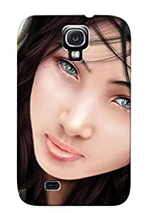Chistmas' Gift - Cute Appearance Cover/tpu IWApHrF1003wEiYH Lovely Girl Listening To Music Case For Galaxy S4 by icecream design