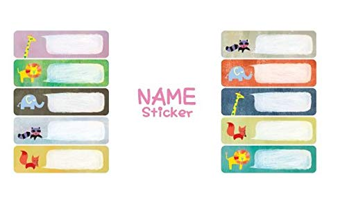Labels for School, Waterproof Film Cover Write-On Name Labels, 3 Packs, Animals(1) by LATECH KOREA CO