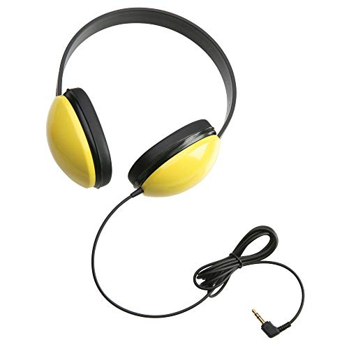 Califone 2800-YL Listening First Stereo Headphones, Yellow