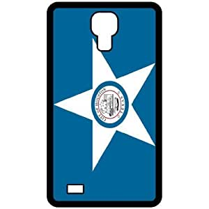 Houston Texas TX City State Flag Black Samsung Galaxy S4 i9500 - Cell Phone Case - Cover