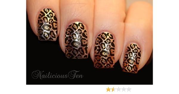 Amazon com: NAILICIOUS TEN Leopard Skin Print Nail Art Water