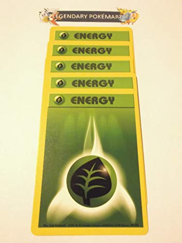 Pokemon Base Set Common Card #99/102 Grass Energy