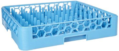 "Carlisle RTP14 OptiClean Polypropylene Tall Peg Plate & Tray Rack, 19.75 x 19.75 x 4"", Carlisle Blue (Case of 6)"