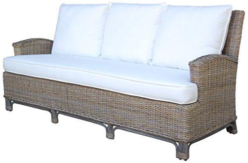 Panama Jack Sunrooms PJS-3001-KBU-S Exuma Sofa with Cushions, Sunbrella Canvas Coal